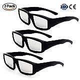 3-Pack de plástico Eclipse anteojos, seguridad Solar Shades anteojos para visión directa Sun, CE y ISO Certified para adolescentes y adultos, 3
