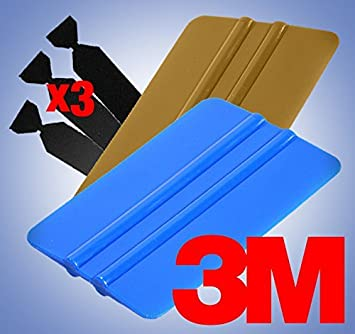 1 Rubber 3M Professional Vinyl Wrap Tool Kit 3 Felts 1 Squeegee