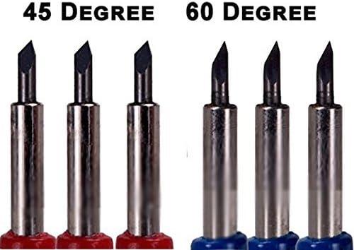 Set de cuchillas de carburo de tipo Roland, corte de 45 y 60 grados, 6 unidades: Amazon.es: Hogar