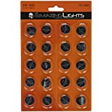 Emazing Lights CR1620 3 Volt Button Cell Lithium Batteries (Pack of 20)