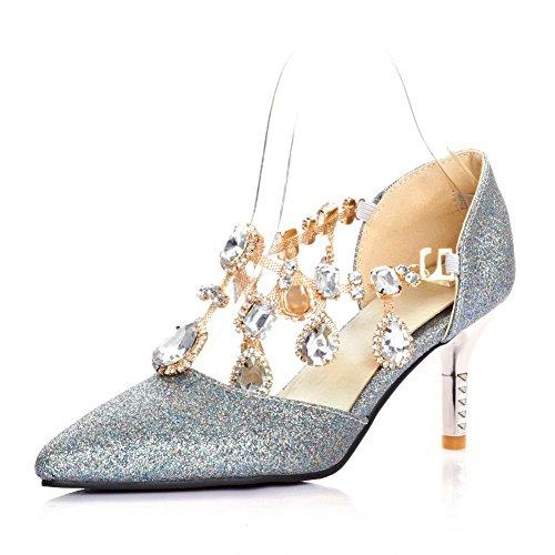 Aldo da donna color argento con lustrini CATENA Cinturino alla caviglia