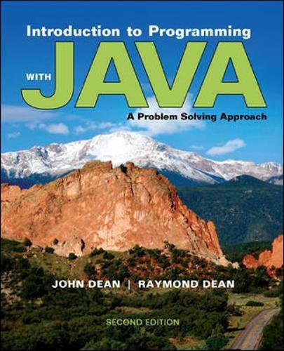 Introduction to Programming with Java: A Problem Solving Approach by Brand: McGraw-Hill Science/Engineering/Math