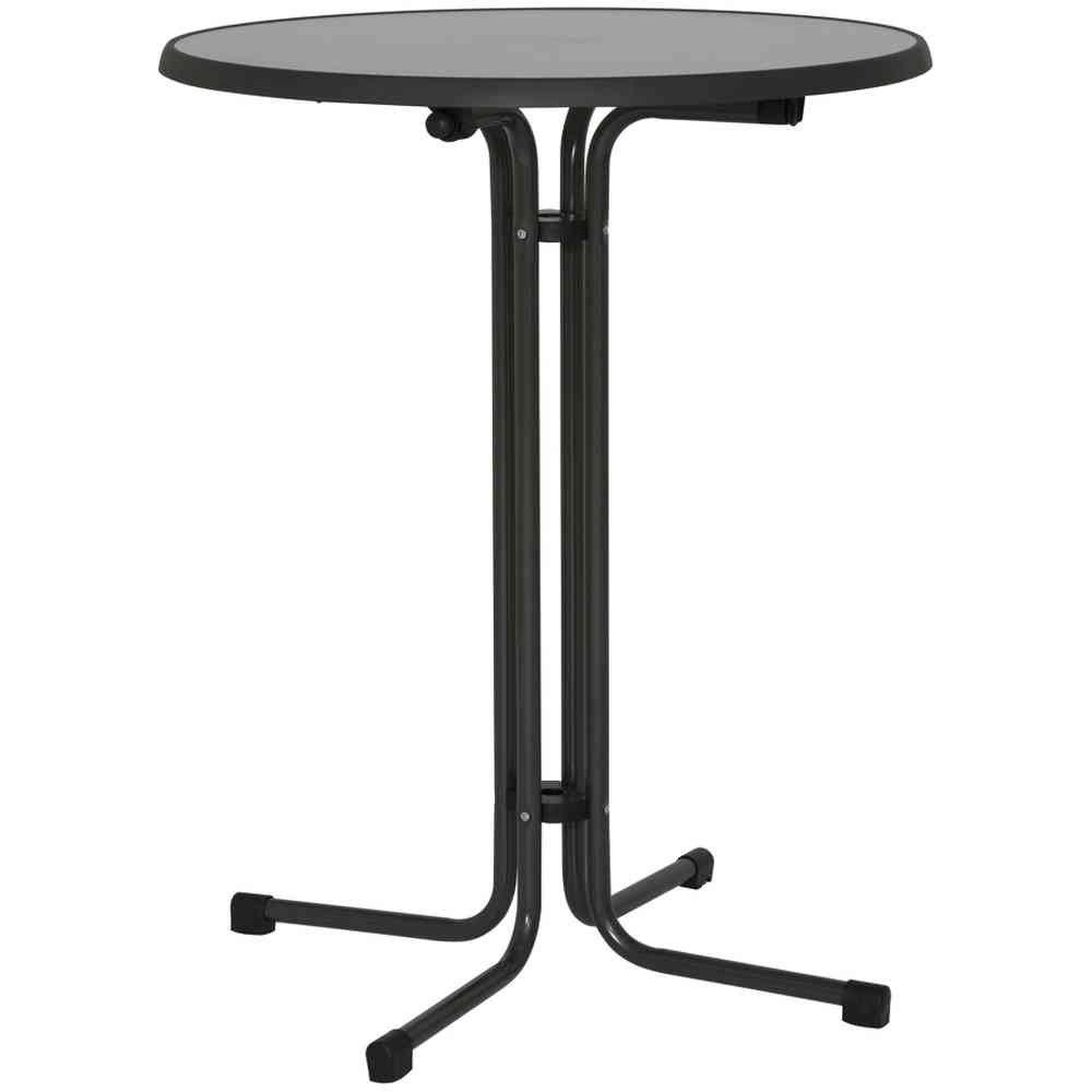 MFG Tavolino da giardino, tubo d'acciaio e pianale marmorizzato, colore: Grigio Fun Star 1604203
