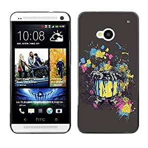 YOYO Slim PC / Aluminium Case Cover Armor Shell Portection //Abstract Zombie Rising Painting Art //HTC One M7