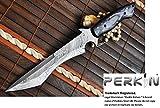 Perkin Knives – Handmade Damascus Steel Hunting Knife Full Tang – Work of Art
