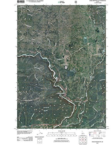 Snake River Idaho Map - Idaho Maps | 2011 Snake River Butte, ID USGS Historical Topographic | Cartography Wall Art | 44in x 59in