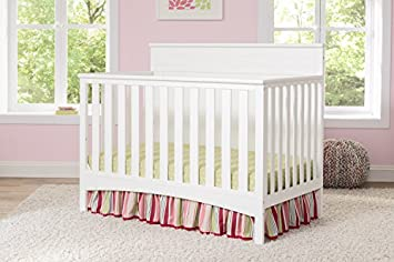 Delta Children Fancy 4-in-1 Convertible Baby Crib, Bianca White
