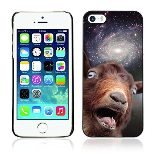 A-type Colorful Printed Hard Protective Back Case Cover Shell Skin for Apple iPhone 5 / 5S ( Funny Space Goat Meme )