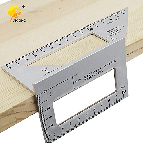 AMZVASO - Aluminum Alloy woodworking Multifunctional Square 45 degrees 90 degrees gauge Angle Protractor Over the ruler