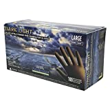 Adenna Dark Light 9 mil Nitrile Powder Free Exam Gloves (Black, Large) Box of 100