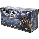 Adenna Dark Light 9 mil Nitrile Powder Free Exam Gloves (Black, Large)