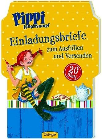 Großartig Pippi Langstrumpf Einladungskarten, 20 Stück
