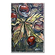 All My Walls 0141ME00004 Horse-Chestnuts on the Ground Wall Art, Green, Orange & Brown - Small