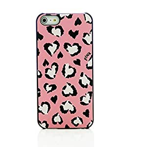 Inask Luminous Effect Fluorescent Glow in the Dark Back Cover Case for Iphone 5 5s with Free Screen Protector Case in Pink Ground Hearts