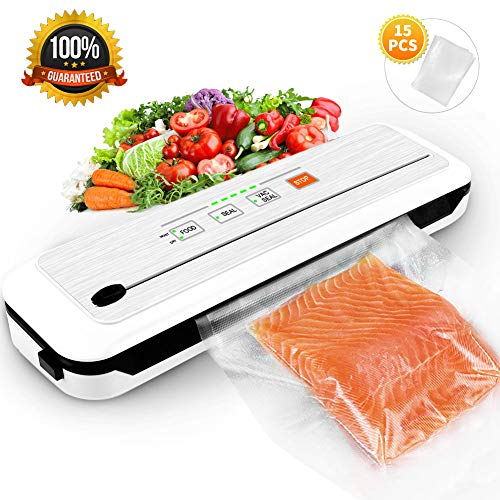 Vacuum Sealer Food Sealer Machine Vacuum Air Sealing System For Food with Bags Built-in Roll Bag Cutter & Moist Food Modes