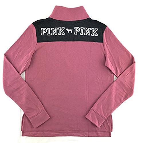 Victoria's Secret Pink Perfect Quarter Zip Sweatshirt Soft Begonia Small