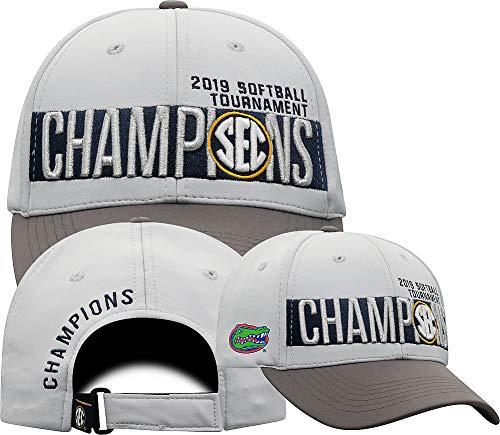 Elite Fan Shop Florida Gators SEC Softball Champs Hat 2019 Locker Room - Adjustable - Gray