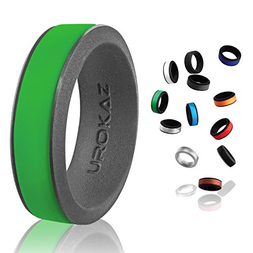 UROKAZ - Silicone Wedding Ring, The Only Ring that Fits Your Lifestyle - Whether You are Single or Married, UROKAZ Ring is Right for You - It is Fashionable, Flexible, and Comfortable (Light 3 Collections Venetian)