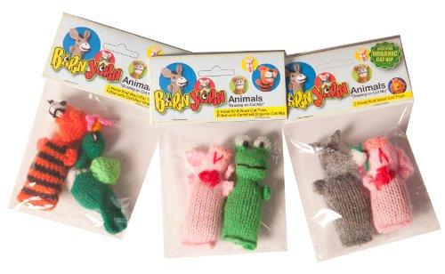 Chilly Dog 2-Pack Barn Yarn Animal Catnip Toy (Cats Barn Cat)