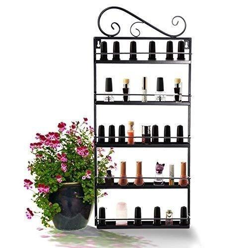 5 Tier Nail Polish Rack, Multi-Purpose Wall Mounted Organizer Display Shelf for 50 Nail Polishes at Home Business Spa Salon by Garain (Image #2)