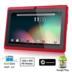 Dragon Touch174; 7'' Pink Dual Core Y88 Google Android 4.1 Tablet PC, Dual Camera, HD 1024x600, Google Play Pre-load, HDMI, 3D Game Supported (enhanced version of A13) [By TabletExpress] (4. DT Y88 Red)