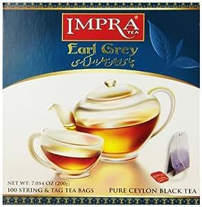 Impra Pure Ceylon Black Tea, Earl Grey, 100-Count (Pack of 2)