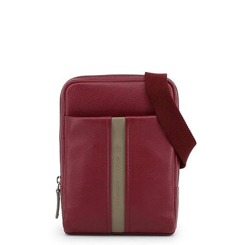 scarpe sportive dcbf5 4cc8f Piquadro Men Red Crossbody Bags: Amazon.co.uk: Shoes & Bags