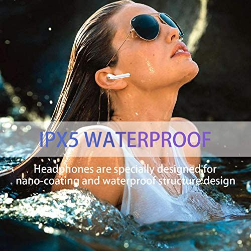 Bluetooth Headphones Wireless Earbuds with Charging Case Compatible with iPhone Airpods 1 Waterproof Headphones 3-D Stereo Earphones Earpieces with Noise Cancelling Built-in Microphone Clear Call