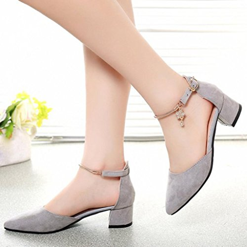 Sandalias para Mujer, RETUROM Nuevos zapatos de las sandalias de los altos talones para los zapatos de la boda Gris