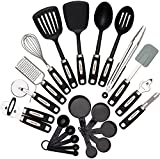 Cooking Utensils Set 22-piece - Home Kitchen Tools - Stainless Steel & Nylon ...