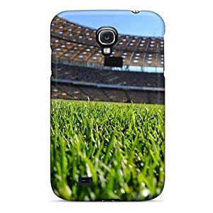 For Galaxy S4 Premium Tpu Case Cover Soccer Stadium Protective Case