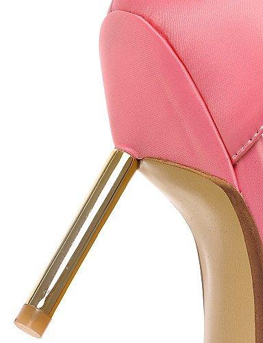 LFNLYX Zapatos de mujer-Tacón Stiletto-Tacones / Puntiagudos / D'Orsay y Dos Piezas-Sandalias-Fiesta y Noche / Vestido / Casual-PU-Negro / Rosa gray