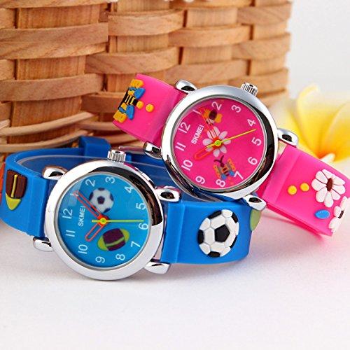 GRyiyi Kid's Outdoor Carton Waterproof Wrist Watch Time Teacher for Children 3D Rubber Band, Deep Blue by GRyiyi (Image #7)