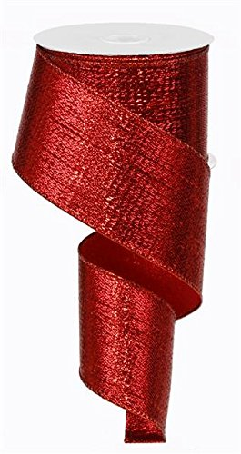 - Red Metallic Wired Ribbon (10 Yards x 2.5 Inches) Christmas Valentine's Day