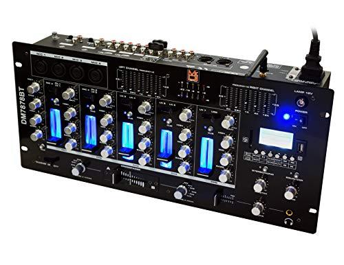 Mr. Dj DM7878BT 6 Channel DJ Mixer with Bluetooth, USB/SD Slot & Audio ()