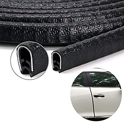Glass Boat and Grip Range Car Door Edge Guard U Shape Rubber Edging Protector Strip for Metal Fit 2.5mm thickness edge 2 Packs Total 10 Meters