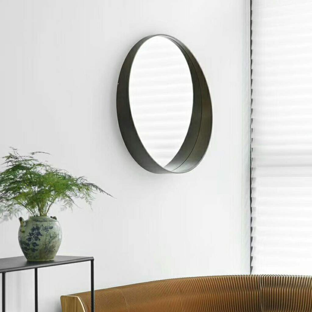 CHEAP Large Wood Framed Mirror With Shelf Floating Round