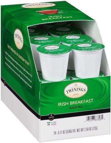 Twinings Irish Breakfast Tea K-Cups, 24 Count