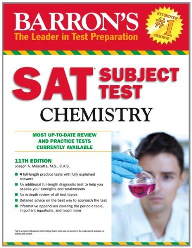 Barron's SAT Subject Test Chemistry, 11th Edition 11th by Mascetta M.S., Joseph A. (2012) Paperback