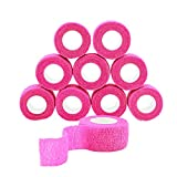 GooGou Self Adherent Wrap Bandages Self Adhering Cohesive Tape Elastic Athletic Sports Tape for Sports Sprain Swelling and Soreness on Wrist and Ankle 10PCS 1 in X 14.7 ft (pink)