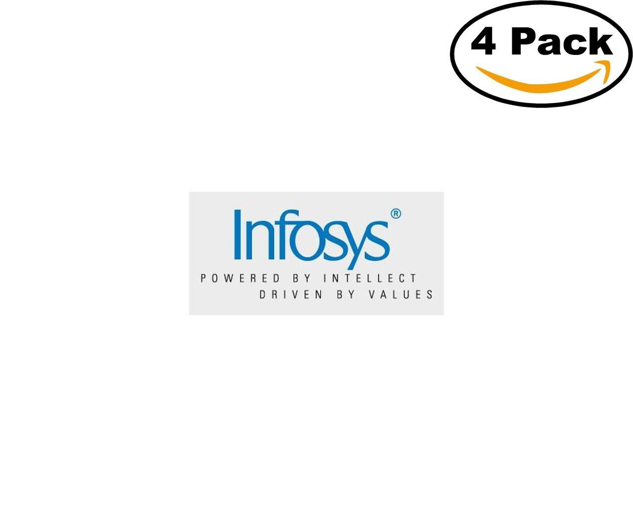 Amazon Infosys 4 Stickers 4x4 Inches Car Bumper Window Sticker Decal
