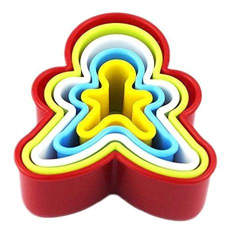 SStaste Juego de 36 moldes para Galletas de plástico con Formas variadas para Horno, Fondant