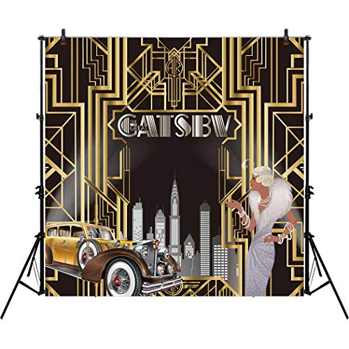 Allenjoy 8x8ft The Great Gatsby Themed Backdrop for Adult Ce