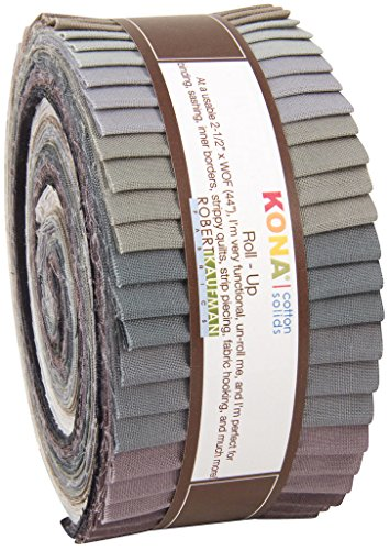 (Robert Kaufman KONA COTTON SOLIDS GRAY AREA Roll Up 2.5