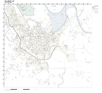 Amazon.com: ZIP Code Wall Map of Pine Bluff, AR ZIP Code Map Not