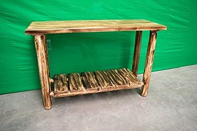 Midwest Log Furniture - Torched Cedar Log Dresser - Sofa Table