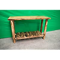Midwest Log Furniture - Torched Cedar Log Sofa Table