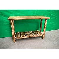 Midwest Log Furniture - Torched Cedar Log Sofa Table