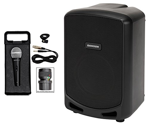 Samson Expedition Escape 6'' Rechargeable Powered PA DJ Speaker + Microphone by Samson Technologies