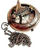 Brass Nautical Sundial Clock~Antique Victorian Sun Dial Pocket Watch.